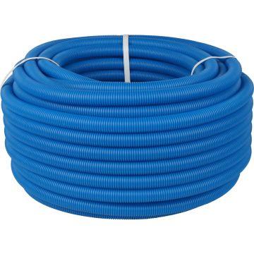 Труба гофрированная ПНД ø25 для труб 16-22мм, синяя Stout SPG-0001-502520