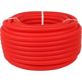 Труба гофрированная ПНД ø40 для труб 25-32мм, красная (бухта 30м) Stout