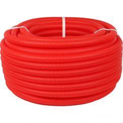 Труба гофрированная ПНД ø32 для труб 25мм, красная (бухта 50м) Stout