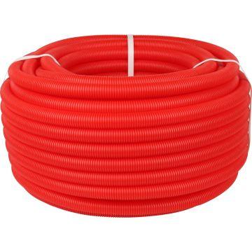 Труба гофрированная ПНД ø32 для труб 25мм, красная Stout SPG-0002-503225