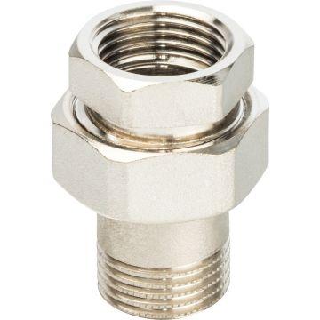 Соединение разъемное американка ВН никель 1/2 уплотнение под гайкой o-ring кольцо Stout SFT-0041-000012