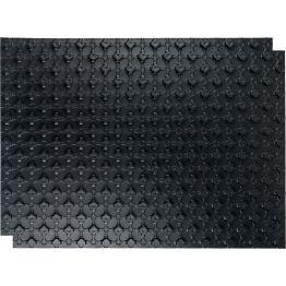 Мат для тёплого пола с бобышками черный 1100*800*20 Stout (10)