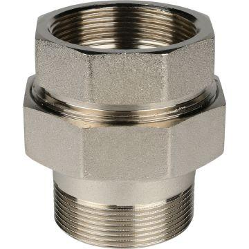 Соединение разъемное американка ВН никель 2 уплотнение под гайкой o-ring кольцо Stout SFT-0041-000002