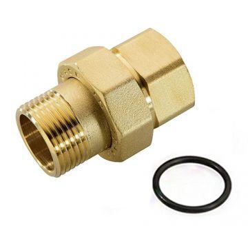 Соединение разъемное американка ВН 3/4 уплотнение под гайкой o-ring кольцо Stout SFT-0040-000034