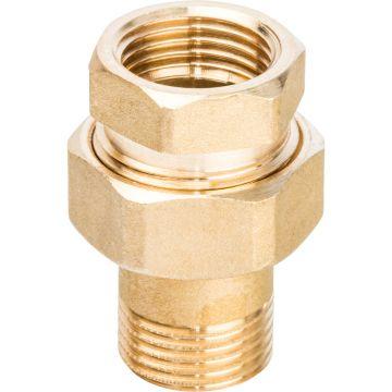 Соединение разъемное американка ВН 1/2 уплотнение под гайкой по плоскости Stout SFT-0044-000012