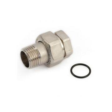 Соединение разъемное американка ВН никель 1 1/2 уплотнение под гайкой по плоскости Stout SFT-0045-000112