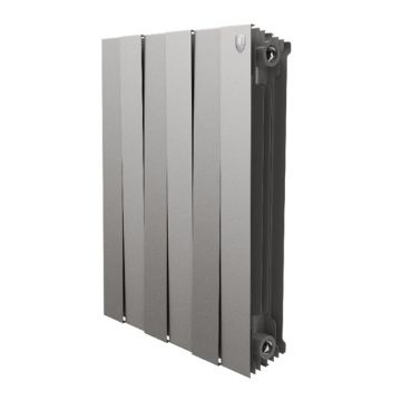 Радиатор биметаллический Royal Thermo Piano Forte Silver Satin 500 10 секций НС-1093823