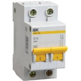 Автоматический выключатель ВА47-29 2P 16А C 4,5кА (6шт) ИЭК