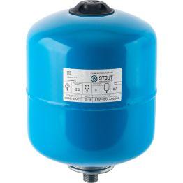 Расширительный бак, гидроаккумулятор 8л синий вертикальный Stout