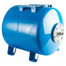 Расширительный бак, гидроаккумулятор 80л синий горизонтальный Stout