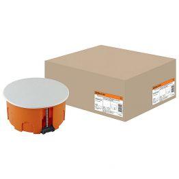 Коробка распаячная СП d80х40мм (пласт. лапки, с крышкой) IP20 SQ1403-1025 TDM