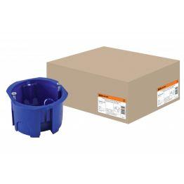 Коробка установочная СП 68x45 IP20 (саморезы) синяя TDM