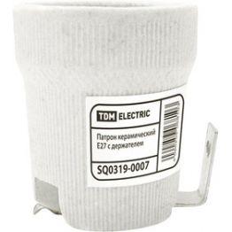 Патрон Е27 керамический с держателем TDM SQ0319-0007
