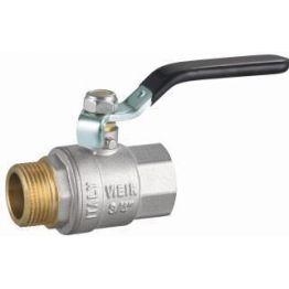 Кран шаровой 1 1/2 рычаг F/M VR202-05 никель ViEiR VR202-05