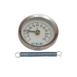 Термометр накладной с пружиной до 120°С YL17 ViEiR