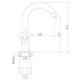 Смеситель Rossinka RS39-62U для раковины RS39-62U