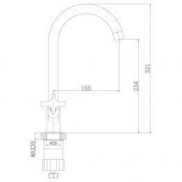 Смеситель Rossinka RS39-72U для раковины RS39-72U