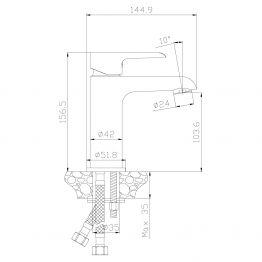 Смеситель Rossinka W35-12 для раковины W35-12