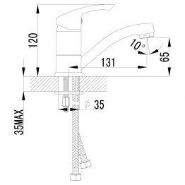 Смеситель Lemark Plus Strike LM1107C для раковины LM1107C