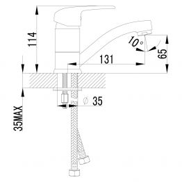 Смеситель Lemark Pramen LM3307C для раковины LM3307C