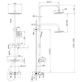 Смеситель Lemark Tropic LM7002С для ванны и душа LM7002C