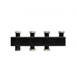 Коллектор стальной распределительный (до 80 кВт) 2 контура Rommer