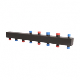 Коллектор стальной распределительный (до 80 кВт) 4 (5) контура Rommer