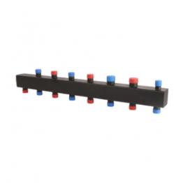 Коллектор стальной распределительный (до 80 кВт) 4 (6) контура Rommer