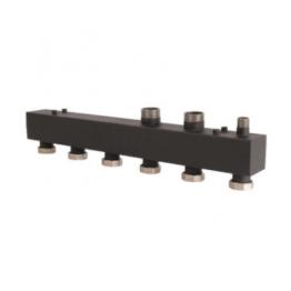 Коллектор стальной распределительный (до 85 кВт) 3 контура Rommer