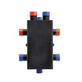 Коллектор стальной распределительный 2 контура с гидравлическим разделителем Rommer