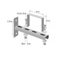 Кронштейн для крепления коллекторов-дублеров со скобой для крепления (60мм) Rommer