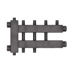 Коллектор (дублер рядный) с гидроразделителем (до 85 кВт) на 2+1+1 контура Rommer