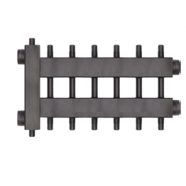 Коллектор (дублер рядный) с гидроразделителем (до 85 кВт) на 3+3+1 контура Rommer