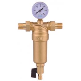 """Фильтр для горячей воды с манометром 1"""" JH153 Металл ViEiR"""
