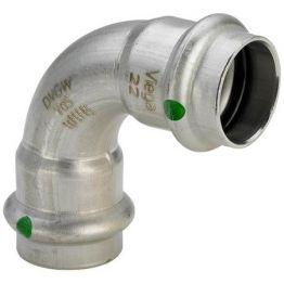 Угол ВВ 90° Sanpress Inox, с SC-Contur, нержав.сталь, 28 мм