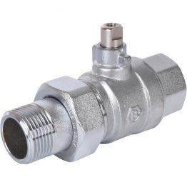 Клапан зональный 2-ходовой шаровой НВ 3/4*3/4 STOUT