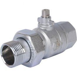 Клапан зональный 2-ходовой шаровой НВ 1*1 STOUT