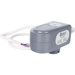 Сервопривод для шаровых зональных клапанов, ход 90°, кабель 1м, 40 сек, 24V, 4 полюса STOUT