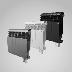 Радиатор биметаллический Royal Thermo BiLiner Noir Sable VDR 350 10 секций