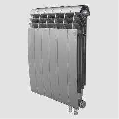 Радиатор биметаллический Royal Thermo BiLiner Silver Satin VDR 500 12 секций