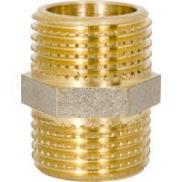 Ниппель НН 1/2 х1/2 для стальных труб резьбовой NTM 552G1/21/2