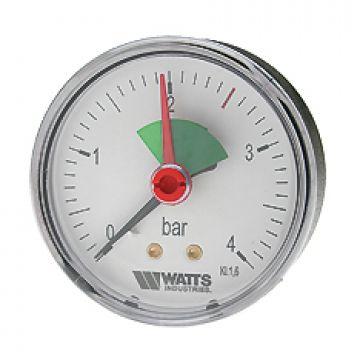 Манометр аксиальный F+R101 (MHA) ø80мм (0-4 бар) 1/4 Watts 10008022