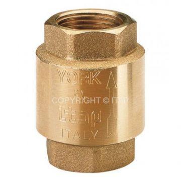 Клапан 1 1/4 обратный пружинный муфтовый с пластиковым седлом YORK itap 103