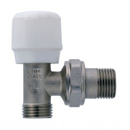 Вентиль регулирующий угловой для металлопластиковых труб к соединениям типа Multi-Fit (ART 395) 1/2