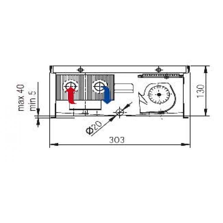 Конвектор с вентилятором: электрический, встраиваемый ...