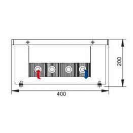 Конвектор встраиваемый в пол без вентилятора КС.200.403 Eva
