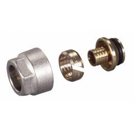 Фитинг компрессионный д/труб из ПП и с/п 16-2,0 ТР 98 резьба 3/4 Luxor